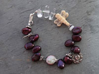 Image of Cranberry Pearl Bracelet