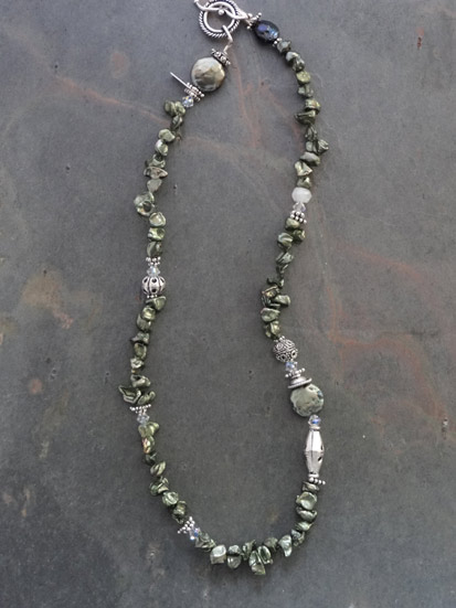 Image of Ivy Green Keishi Pearl Iane Necklace