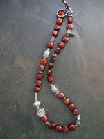 Image of Red Coin Pearl Iane Necklace