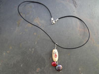 Image of Inlay Bone Koi Fish and Pearls Necklace